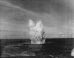 TBF-1C aircraft exploding in water near USS Coral Sea, 20 Mar 1944