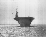 Bow view of USS Coral Sea, Sep 1943