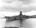 Sunken Aoba at Kure, Japan, 9 Oct 1945