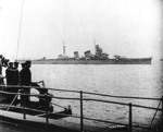Photo of possibly the first naval review of Aoba, Yokohama 30 Oct 1930