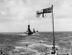 HMS Barham, HMS Malaya, and HMS Argus in exercise, circa late 1920s, photo 2 of 2