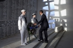 US President Barack Obama placing a wreath at the USS Arizona Memorial, Hawaii, United States, 29 Dec 2011