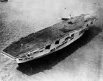 Ark Royal immediately after launching, 13 Apr 1937
