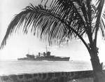 USS Astoria entering Honolulu harbor during her shakedown cruise, US Territory of Hawaii, 9 Jul 1934
