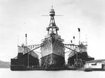 Augusta in Dewey Drydock, Olongapo Naval Station, Philippines, 29 Jan 1936