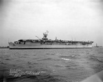 Belleau Wood in the Delaware River off the Philadelphia Navy Yard, Pennsylvania, United States, 18 Apr 1943, photo 1 of 2