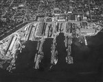Puget Sound Navy Yard, Bremerton, Washington, United States, 25 Jul 1941, photo 3 of 4; note AVPs Barnegat, Biscayne, Casco, Mackinac, BB Colorado, AG Utah, AK Aroostook, and AR Prometheus