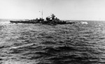 Bismarck at sea, seen from Prinz Eugen, 19 May 1941, photo 2 of 3