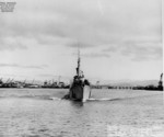 USS Blackfin departing Mare Island Navy Yard, California, United States, 28 Jun 1946, photo 1 of 3