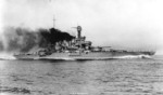 California steaming at high speed, circa 1921