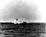 USS Carbonero firing a Loon missile, 1951
