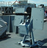 20 mm Oerlikon anti-aircraft gun mounted on the forward deck of museum ship USS Cassin Young, Boston, Massachusetts, United States, 4 Jul 2010