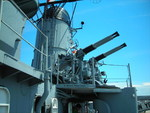 Quadruple 40mm Bofors anti-aircraft mount aboard museum ship USS Cassin Young, Boston, Massachusetts, United States, 4 Jul 2010, photo 2 of 2