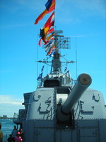 No. 2 turret of museum ship USS Cassin Young, Boston, Massachusetts, United States, 4 Jul 2010