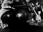 Torpedo room of USS Cero while the submarine was at the base at New London, Connecticut, United States, Aug 1943