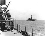 Heavy cruisers Wichita (foreground), Chicago (center), and Louisville (background) en route to Guadalcanal, 29 Jan 1943, hours before the Battle of Rennell Island