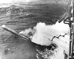 Chicago firing a torpedo in practice, during the early 1930s