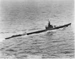 USS Cisco during trials, off northeastern United States, 19 Jun 1943, photo 1 of 4