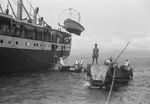 Javanese natives operating Japanese-built Daihatsu-class landing craft, 28 Nov 1948