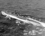 USS Dragonet underway during her trials off New London, Connecticut, United States, 6 Sep 1944