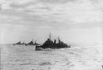 HMS Edinburgh, HMS Hermione, and HMS Euryalus escorting the Operation Halberd convoy to Malta, Sep 1941