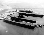 Carriers Saratoga, Enterprise, Hornet, and San Jacinto, Alameda, California, Sep 1945