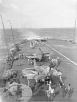 Fulmar fighters aboard HMS Formidable off Madagascar, early May 1942