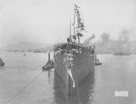 Launching of battleship Fuso, Kure, Japan, 28 Mar 1914