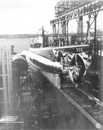 Launching of submarine Gar, Groton, Connecticut, United States, 7 Nov 1940