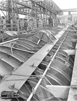 Submarine Gar under construction, Groton, Connecticut, United States, 1 Apr 1940, photo 2 of 2; topside stern view looking forward