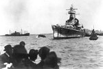 Admiral Graf Spee anchored off Montevideo, Uruguay, circa 13-16 Dec 1939, photo 2 of 2