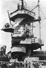 Close-up view of the port side of Admiral Graf Spee