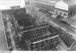 German carrier hull Flugzeugträger A (future Graf Zeppelin) under construction, Kiel, Germany, 22 Mar 1937, photo 6 of 9