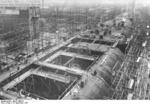 German carrier hull Flugzeugträger A (future Graf Zeppelin) under construction, Kiel, Germany, 22 Mar 1937, photo 7 of 9