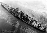 Aerial view of large cruiser Guam, Philadelphia Navy Yard, Pennsylvania, United States, 25 Oct 1944, photo 3 of 5