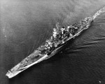 USS Guam off Trinidad during her shakedown cruise, 13 Nov 1944, photo 1 of 2