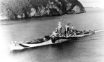 USS Guam off Trinidad during her shakedown cruise, 13 Nov 1944, photo 2 of 2