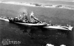 Starboard view of large cruiser Guam, Philadelphia Naval Yard, Pennsylvania, United States, 25 Oct 1944