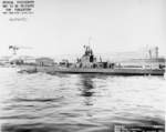 USS Gunnel at Mare Island Naval Shipyard, Vallejo, California, United States, 31 Oct 1943