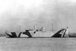 US Navy freighter USS Federal with dazzle camouflage, photograph likely taken on 16 Nov 1918