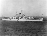 USS Helena at anchor, President Roads, Boston, Massachusetts, United States, 15 Jun 1940, photo 1 of 2; photo taken by photographer from USS Wasp