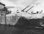Torpedo damage on Hobart, 20 Jul 1943, photo 2 of 5