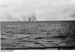 A smoke cloud hanging over HMS Hood immediately after an explosion, Battle of Denmark Strait, 24 May 1941