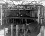 Hangar of light carrier Hosho, 3 Oct 1945