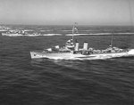 Dewey and Hull maneuvering off San Diego, California, United States during an demonstration with US Navy Destroyer Squadron 20, 14 Sep 1936