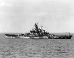 USS Indiana off Norfolk, Virginia, United States, Sep 1942