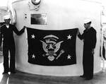 Indianapolis bearing the Presidential emblem, late Nov 1936, photo 1 of 2
