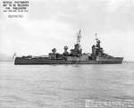 Indianapolis off Mare Island Navy Yard, CA, 10 Jul 1945, photo 1 of 4