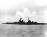 Indianapolis off Tinian, days before she was sunk, circa 26 Jul 1945