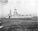 Indianapolis off the Mare Island Navy Yard, California, 9 Dec 1944, photo 1 of 2